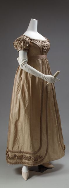 Dress, 1819–1823, European, silk
