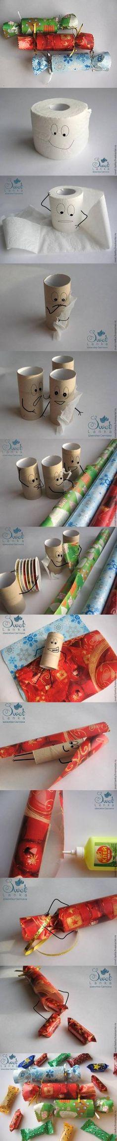 Shoebox Crafts : DIY Toilet Paper Roll Santa Claus Candy Box