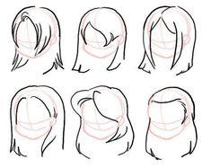 Icons and Username Ideas – Easy Hair Drawings, Pencil Art Drawings, Art Drawings Sketches, Cartoon Drawings, Cute Drawings, Chibi Hair, Chibi Eyes, Cartoon Hair, Hair Sketch