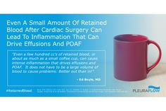 Even a Small Amount of Retained Blood After Cardiac Surgery Can Lead to Inflammation That Can Drive Effusions and POAF