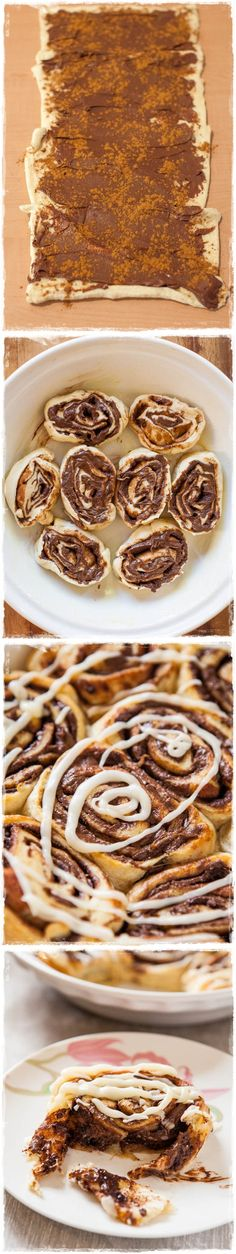 nuttella cinamon rolls, did I REALLY need to see this???