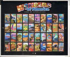 A USMintSheets.com item - Scott #4033-4072 39c Wonders of America - Land of Superlatives