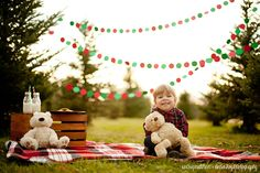 Tree Farm Family Christmas Photos & Christmas Cards with your Silhouette - unOriginal Mom