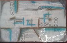 art journal, disterss crayon, gummiapan,