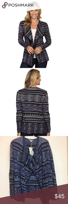 NWT Lucky Lotus Multicolor Open Cardigan NWT. Lucky Brand. Lucky Lotus. Tunic Length. Patterned stripe. Solid color along hemline. Open front design. Lucky Brand Sweaters Cardigans