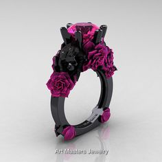 Items similar to Love and Sorrow Black Gold Ct Pink Sapphire Skull and Pink Rose Solitaire Engagement Ring on Etsy Cute Jewelry, Bridal Jewelry, Jewlery, Unique Rings, Beautiful Rings, Skull Engagement Ring, Solitaire Engagement, Black Gold Jewelry, Black Rings