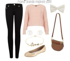Here is a beautiful outfit inspired by Ariana Grande(:❤