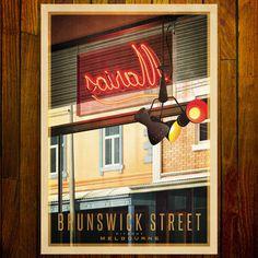 Brunswick Street, Fitzroy Melbourne Coffee, Melbourne Art, Cafe Window, Brunswick Street, All Poster, Pigment Ink, All Print, Large Prints, Vintage Prints
