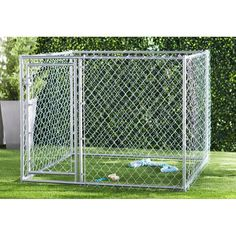 Archie & Oscar™ Abigail Steel Yard Kennel & Reviews | Wayfair Lucky Dog Kennel, Large Dogs, Small Dogs, Portable Dog Kennels, Waterproof Tarp, Dog Kennel Cover, Pet Resort, Roof Covering, Pet Cage