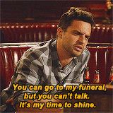 Nick Miller is the best human ever. He just gets it!
