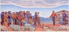 "Maynard Dixon Paintings, the hand of god | Hand of God Mural"" (Mormon culture)"
