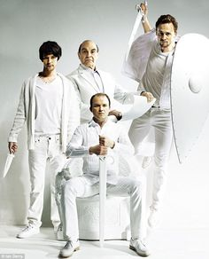 'He's considered not only by us but globally to be the premium writer,' said David Suchet of William Shakespeare (Pictured left-to-right: Ben Whishaw, Suchet, Rory Kinnear and Tom Hiddleston)