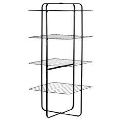 $30 MULIG Drying rack, 4 tiers - black - IKEA