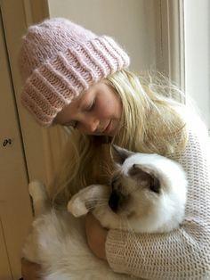 Samuji-tyylinen pipo lapselle, pyhäbirma, kissa