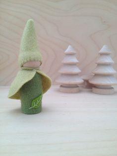 Wooden Peg Doll Fairy Gnome  Waldorf and Montessori by SepAndAug, €5.99