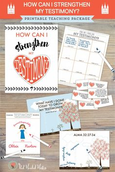 """""""How can I strengthen my testimony?""""  This is perfect for the May young women lesson!  This printable teaching package is packed with things like scripture study boxes, drawing activities, discussion questions, and a great illustration of Alma 32.  #maycomefollowme #ldstestimonylesson #mayyoungwomenlesson"""