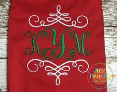 Monogram Swirls 2 Embroidery Design
