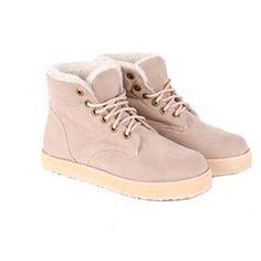 Sepatu Boots Wanita Original Cream
