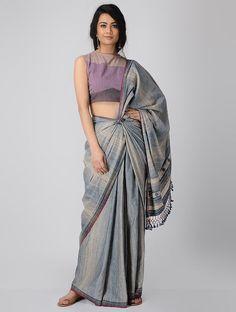 3f5aa5daf2d994 Purple Handloom Cotton Blouse