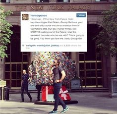 When Hunter Pence goes to New York City, he pretends he's in an episode of 'Gossip Girl'...