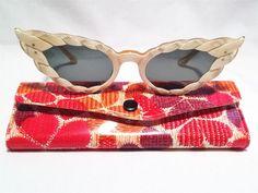 7601d1d7e0 Fabulous French J-Twist J-5480 Pearlized Cat s Eye Sunglass Frames  47 18~130 MOP