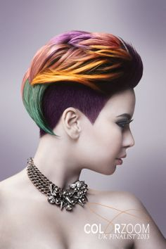 #Goldwell #ColorZoom Nicole Smyth's haircolor entry for Goldwell ColorZoom 2013 in the U.K. is visually stunning and technically awe-inspiring. Smyth won the silver for this image!