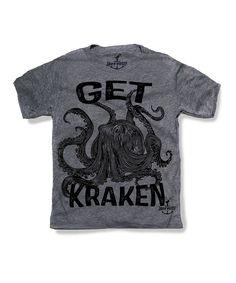Another great find on #zulily! Gray 'Get Kraken' Tee - Toddler & Boys by Skip N' Whistle #zulilyfinds