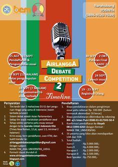 LOMBA DEBAT TINGKAT NASIONAL    AirlanggA Debate Competition 2 (AADC 2) dengan…