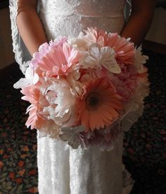 And we have a winner. Gerber daisy and peony bouquet. [in lavender]