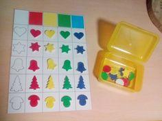 lesní učení, lesní MŠ, rozvoj zrakového vnímání, barvy, samotvrdnoucí hmota Plastic Cutting Board, Cube, Kids, Shopping, Therapy, Games, Autism, Creative, Crafting