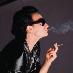 Bono - How can someone make smoking look SO cool... Only Bono, of course.....and Norman Reedus!!!