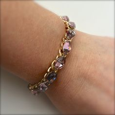 Marquis Jewels Bracelet Crystal Pink by DesignsbyStacyLee on Etsy