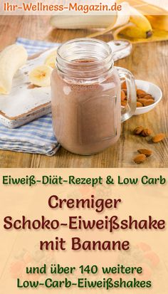 Make chocolate protein shake yourself – a healthy low-carb diet recipe for protein-rich breakfast smoothies and protein shakes for weight loss – without added sugar, low-calorie, healthy … # protein shake # slimming recipes Protein Rich Breakfast, Breakfast Smoothies, Healthy Smoothies, Low Carb Protein, Protein Diets, No Carb Diets, Chocolate Protein Shakes, Chocolate Shake, Healthy Chocolate