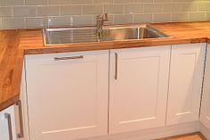 stainless steel sink Kitchen Worktop, Kitchen Cabinets, Inset Sink, Downstairs Toilet, Sink In, Stainless Steel Sinks, Wooden Kitchen, Work Tops, Rental Property