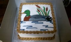 Mallard duck cake By HRVzD on CakeCentral.com