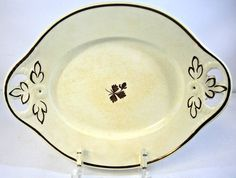 Antique Anthony Shaw Tea Lustre Oval Bread Tray