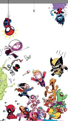 Trendy wallpaper marvel iphone the avengers Baby Avengers, Marvel Avengers, Ms Marvel, Chibi Marvel, Marvel Art, Marvel Dc Comics, Marvel Heroes, Marvel Cartoons, Marvel Films