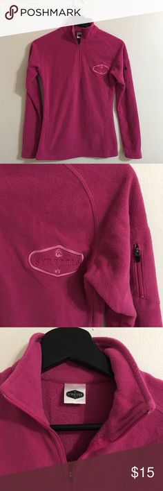 Pink skiing fleece Used pink skiing fleece. Purchase at Stratton Mountain in Vermont. Size small. Tops Sweatshirts & Hoodies