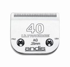 DOG GROOMING - CLIPPERS/PARTS - ULTRAEDGE BLADE - SZ 40 - ANDIS COMPANY - UPC: 40102640766 - DEPT: DOG PRODUCTS