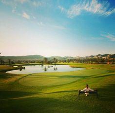 En el campo de golf de La Manga Club