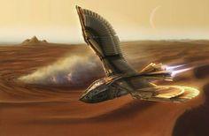 Cyberpunk, Spaceship Concept, Concept Ships, Dune Series, Dune Frank Herbert, Dune Art, Steampunk, Environment Concept Art, Science Fiction Art