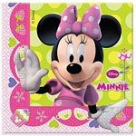 Minnie Mouse pink napkins