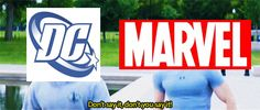 """Marvel just passed up DC like it's got a super solider formula. """"I do what he does, just slower...and not as good"""" -DC 15 Reasons We've Been Blessed By Marvel"""