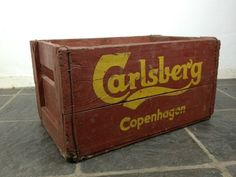 Vintage Carlsberg Beer Crate | eBay  bathroom storage :)