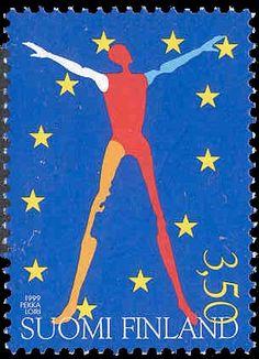 Finland, Stamps, Flag, Paper, Art, Seals, Art Background, Kunst, Science