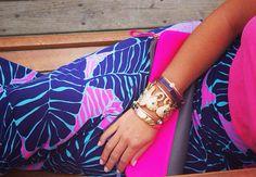 Lilly Pulitzer Marnie Maxi Column Skirt & Tusk Tusk Bangle