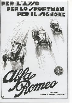 """""""For the ace, for the sportsman, for the gentleman - Alfa Romeo"""", Alfa Romeo Gtv 2000, Alfa Romeo Cars, Los Cars, Alfa Romeo Logo, Advertising Pictures, Color Television, Alfa Romeo Spider, Old Commercials, Car Photography"""