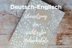 Nähbegriffe Deutsch – Englisch