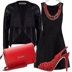 Che sia una serata elegante oppure una cerimonia o, perchè no, un party importante, l'abbinamento del rosso con il nero non passa mai di moda, ed è sempre molto chic!