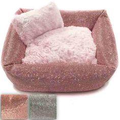 Luxury crystal rhinestone dog beds for small to large dogs up to 80 lbs. Dog Beds For Small Dogs, Cool Dog Beds, Large Dogs, Designer Dog Beds, Designer Dog Collars, Diy Cat Bed, Cat Beds, Luxury Pet Beds, Dog Bedroom